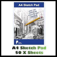 A4 Sketch Pad Bright White Paper Artist Sketching Drawing Doodling Art Craft Uk