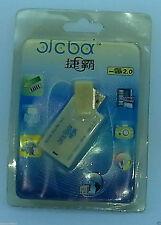 NEW WHITE USB2.0 MS PRO/ms-duo/Ms card reader Memory Card Reader Adaptor Mac UK