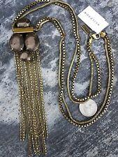 New~Nwt~Leather Together~Chunky Bronzed Fringe~Krn0015 Silpada Kr Brass Necklace