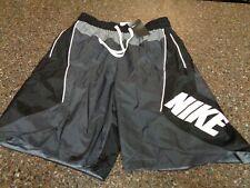 Nike Men's Basketball Shorts Heavyweight Nylon Large Black & Gray NWT