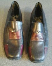 Rieker black & red shoes, UK5, US 38,  used, surface mark shown