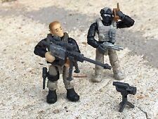 Custom LEGO / Mega Bloks Navy Seal  Swat Police Army #s 1 & 5 & Weapons Pack