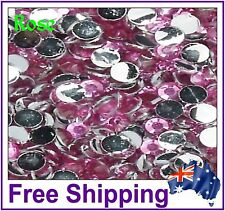 Rhinestones Resin Flat Back ~ 4mm ~ Rose ~ 500 Pack By Gypsy Bling ~ Free Post