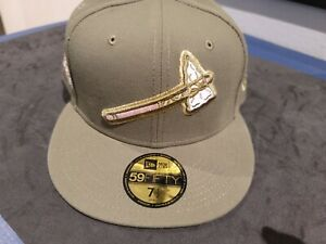 Olive Green Atlanta Braves Pink bottom 1871 Side Patch New Era 59Fifty Fitted