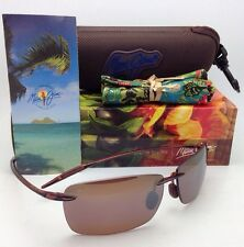 MAUI JIM LIGHTHOUSE Sunglasses MJ 423-26 Rootbeer Frames Bronze Polarized Lenses