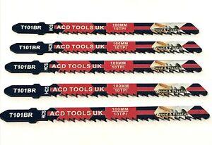 5 x T101BR Jigsaw Blades for Metal to fit Bosch, DeWalt, Makita