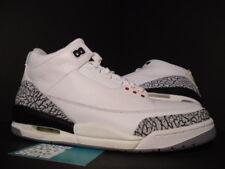 2003 Nike Air Jordan III 3 Retro WHITE CEMENT GREY FIRE RED BLACK 136064-102 10