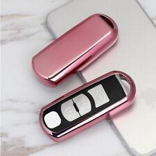 Pink Soft TPU Keyless Remote Key Fob Cover Case For Mazda 3 6 CX5 CX7 CX-9