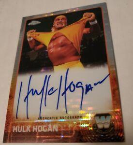 2015 Topps WWE CHROME Hulk Hogan auto Serial #'d 05/75 Refractor