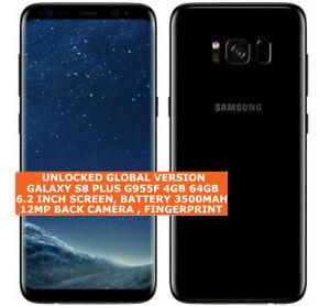 "SAMSUNG GALAXY S8 PLUS G955F 4gb 64gb Octa Core 6.2"" 12mp Android 9.0 Smartphone"