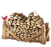 Miniature Village Fairy Gnome Garden Wooden Log Pile - Fairy Gnome Garden