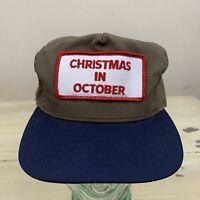 CHRISTMAS IN OCTOBER - Vtg 90s Brown Kansas City Missouri Snapback Dad Hat Cap