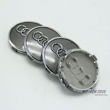 4X 60MM Wheel Center Hub Caps Badge Set Fit  For Audi A4 A5 Q5 Q7 R8 4M0601170