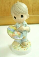 Precious Moments #644463 You Color Our World 1999 Porcelain Figurine Star Symbol
