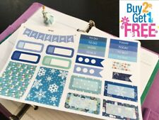 PP161 -- Blue Winter Christmas Kit Planner Stickers for Erin Condren (23pcs)
