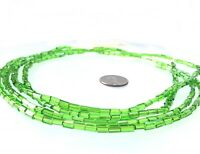 Fine Vintage Czech Crystal Russian cut Green Faceted Glass African Trade beads