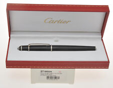 Cartier Diabolo ST180034 black matte & platinum fountain pen new never inked