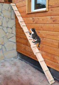 Ruhti - Katzentreppe Katzenleiter Katzenstufe für Balkon, Treppe etc.| 1 bis 7 m
