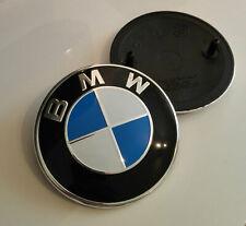 BMW BLUE  82mm 2 Pin EMBLEM E36 E46 E90 E92 E93 E28 E34 E39 E60 E61 X3  X5 X6