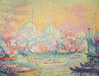 Istanbul Paul Signac Turkey Classic Painting Print CANVAS Cityscape Art Giclee S