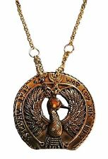 "Raiders of the Lost Ark STAFF OF RA Antique Brass Necklace/Pendant W/ 20"" Chain"