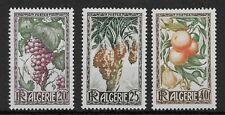 ALGERIA 1950 SG299-301 Fruits Lemon Orange Dates Set Mint MH