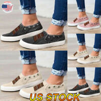 US Women Walking Sport Sneakers Breathable Mesh Slip-On Running Shoes Pumps NEW