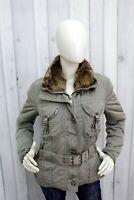 PEUTEREY Donna Taglia M Giubbotto 44 Pelliccia Jacket Invernale Giubbino Piumino