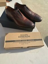 Allen Edmonds Park Avenue Cap-Toe Dark Brown Dress Size 12