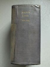 More details for the navy list, quarterly for october 1919,
