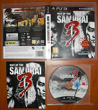 Way of The Samurai 3, Acquire, PlayStation 3 PS3, Pal-España ¡¡COMPLETO!!