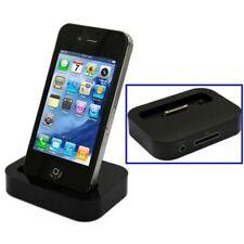 Dockingstation Ladestation Schwarz Kompatibel Apple Iphone 3/3S und 4/4S mit 3,5