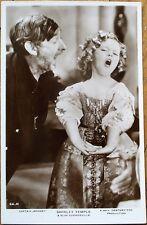 Shirley Temple 1930s Realphoto Movie Star Postcard-Captain January-S Summerville