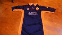 maillot de football AS Roma vintage Kappa bleu 73cm sur 48cm bleu Ina Assistalia