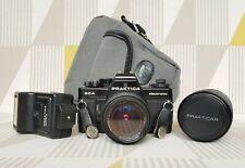 Praktica BCA Electronic 35mm Camera + Lenses, Flash & Jessops Camera Bag.