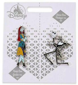 Disney Store Jack Skellington & Sally NBC Pin Set Pair Valentines Wedding Gift