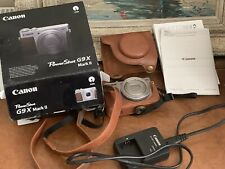Canon Powershot G9 Mark II Digital Camera With Matching Leather Case - New