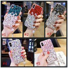 3D Soft Case Cover Luxury Bling Jewelled Rhinestone Diamond Crystal tassel #A