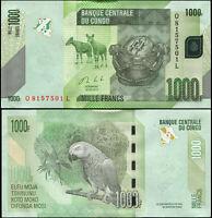 DR Kongo 1000 Francs. UNZ 30.06.2013 Banknote Kat# P.101b