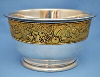 VINTAGE FRANKLIN MINT L.E. SILVER PLATED HARVEST BOWL