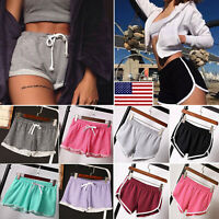 ILJ:Summer Ladies Sports Shorts Casual Beach Running Gym Yoga Women Hot Pants