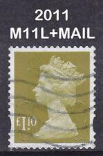 2011 Machin £1.10 Yellow Olive SG U2936 M11L+MAIL 2B Used Security Stamp