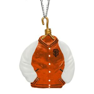 San Francisco Giants Christmas Tree Holiday Ornament - Team Logo Varsity Jacket