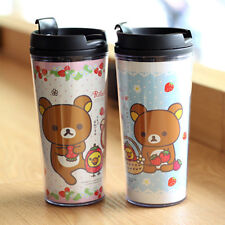 So Cute Rilakkuma Insulated Tumbler Cup 455ml Travel Tea Mug Keep Warm and Cool
