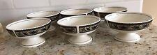 "Lot of 6 Mikasa Arabella Intaglio 5"" Footed Sherbet, Dessert Dip Bowls CAC01"