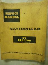 CATERPILLAR D9 TRACTOR SERVICE MANUAL 66A-1