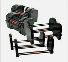 NEW POWERBLOCK EXP 5 - 90 LB Stages 1 to 3 Adjustable Dumbbells **SET OF 2**
