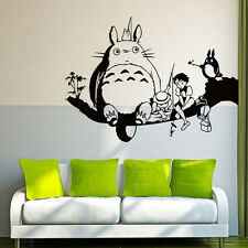 My Neighbor Totoro Cartoon Black Wall Sticker Kids Nursery Room Mural Decoration