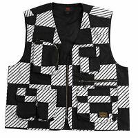 Levis Skateboarding Skate Utility Vest - Kelly Checkers Black Large