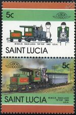 1983 Mount Washington Cog Railway (MWCR) Tip Top Rack Train Stamps / LOCO 100